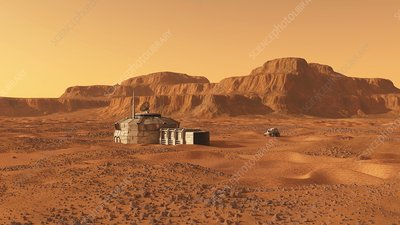 Mars base, artwork