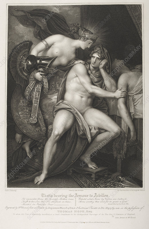 Thetis bearing the armour to Achilles