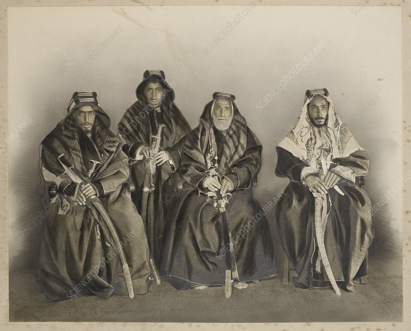 Group of unidentified sheikhs