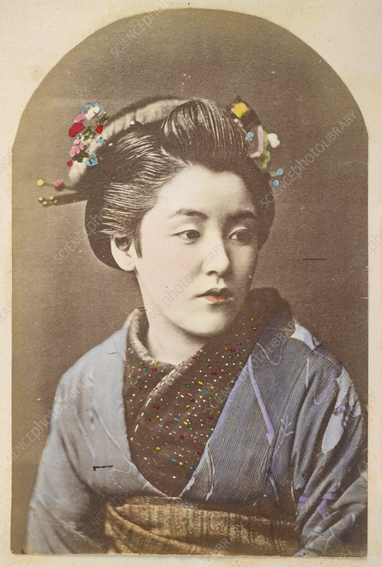 A Japanese Lady - Stock Image - C018/8964 - Science Photo ...
