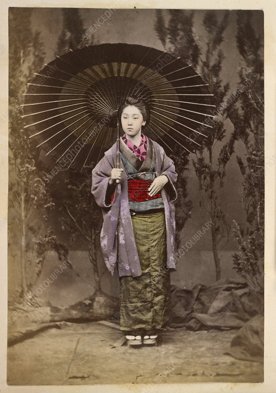 A Japanese Lady with a parasol