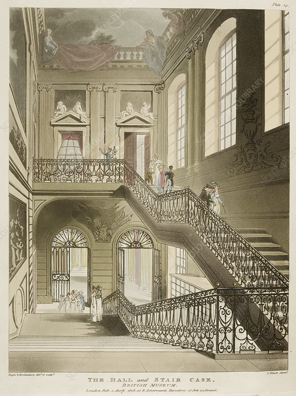 The hall and stair case, British Museum