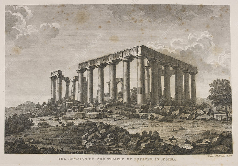 The remains of the Temple of Jupiter in A