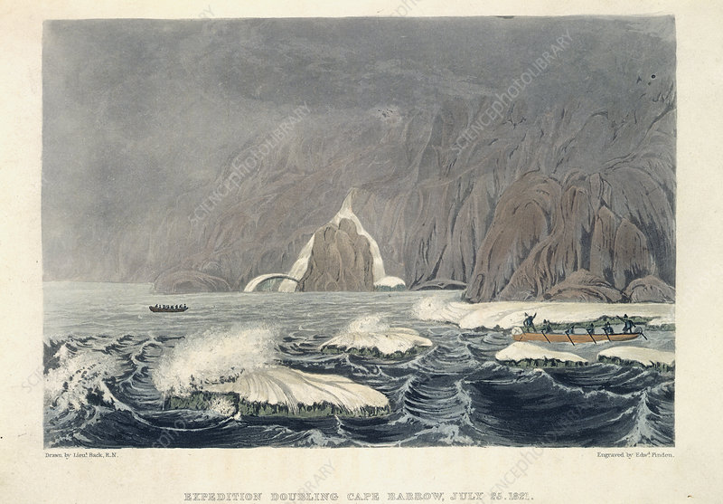 Expedition doubling Cape Barrow, July 25t