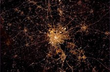 Brussels at night, ISS image