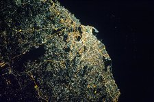 Tripoli at night, ISS image