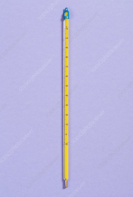 Mercury Laboratory Thermometer Stock Image C018 9366