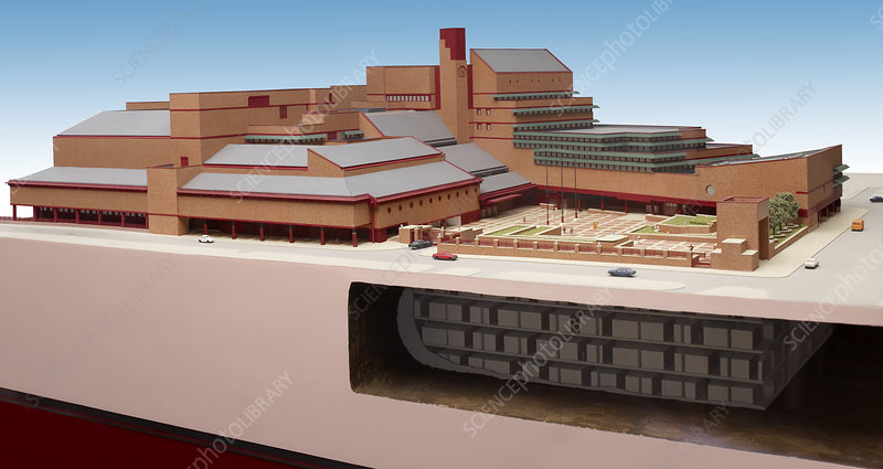 British Library St. Pancras model