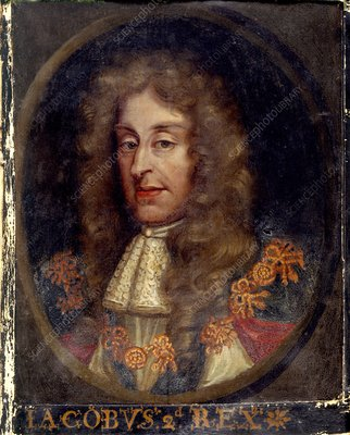 James II, king of England and Ireland.