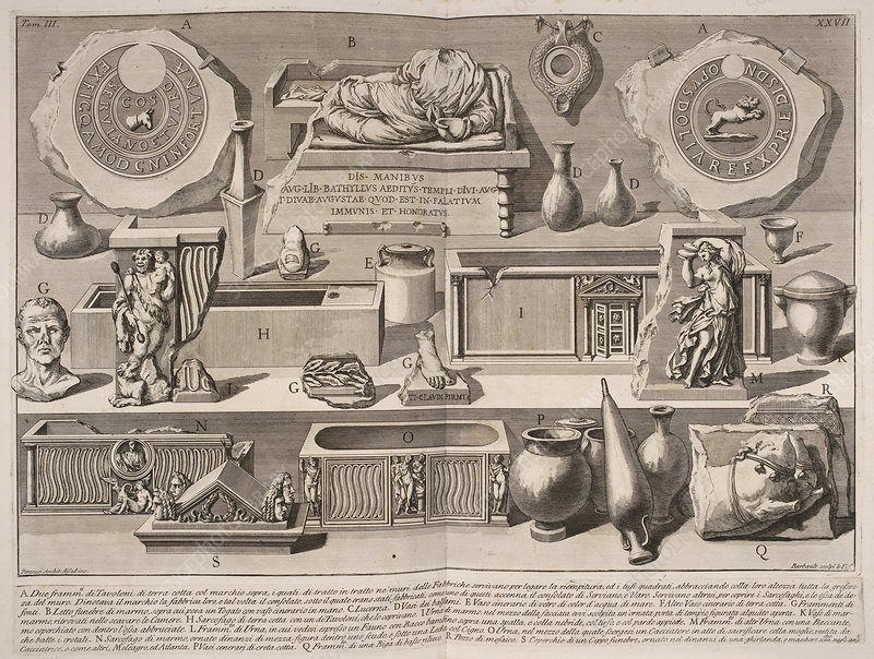 Illustration of objects for book on Ancie