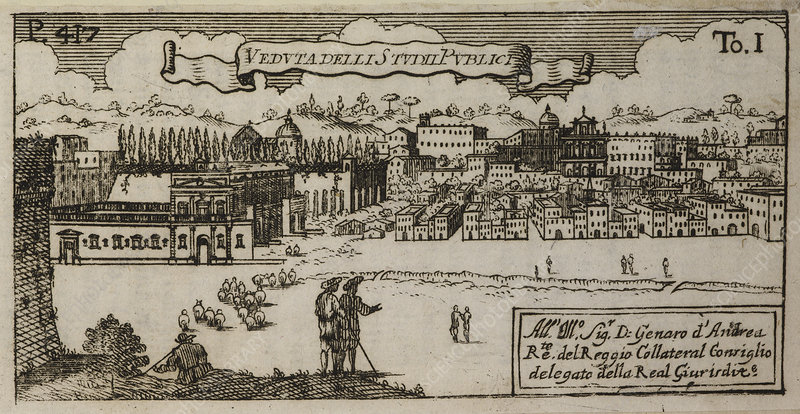 An Illustration of 18th century Naples