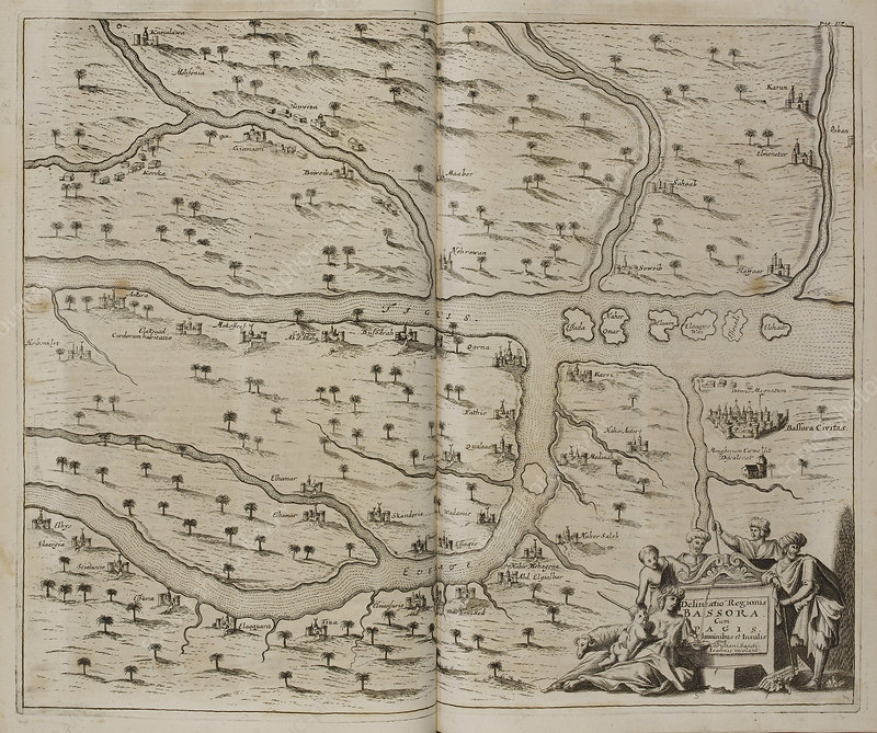 Map of Basra (Al Basrah) in the 17th cent