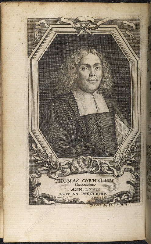 Portrait plate of Thomas Cornelius