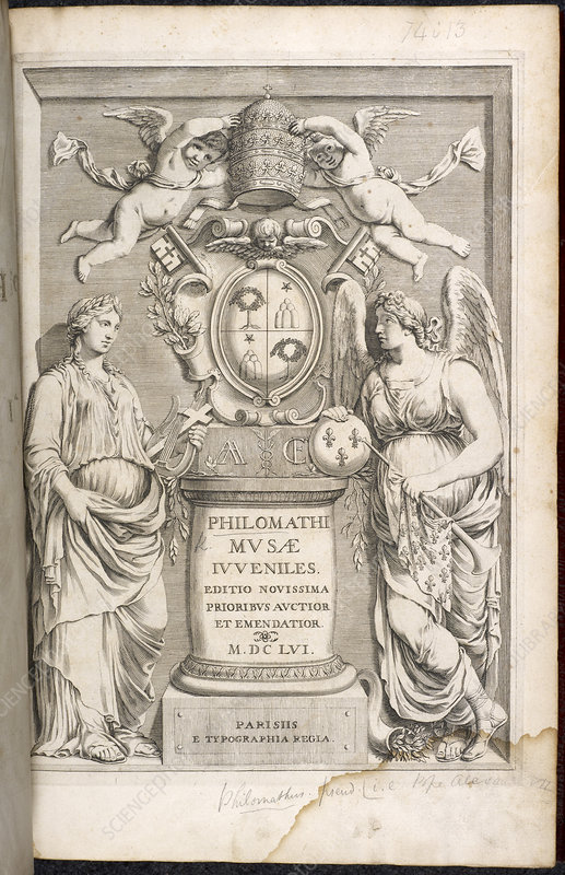 Title page of Philomathi Musae juvenilis