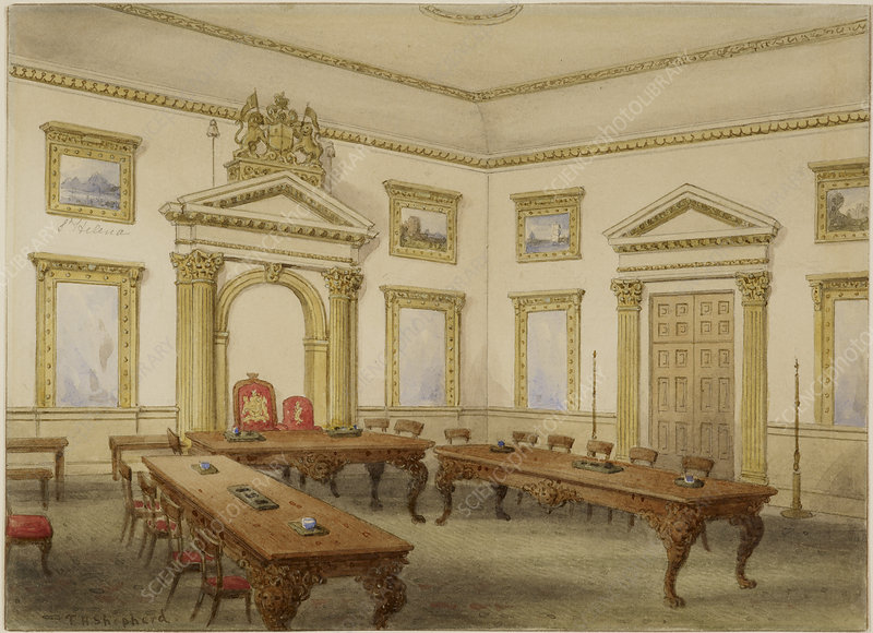 Director's Court room at East India House