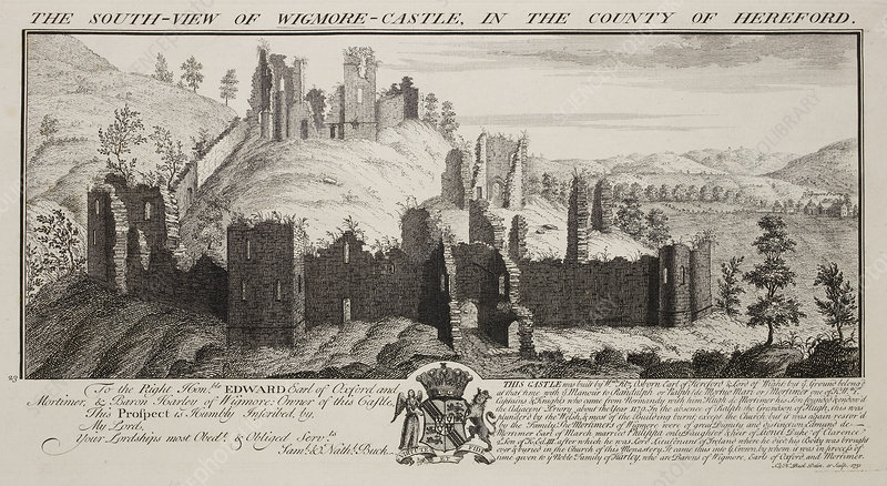 Print of South View of Wigmore Castle