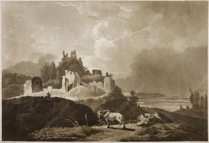 Engraving of Wigmore Castle