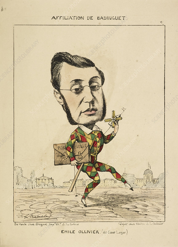 French Caricature - Emile Ollivier