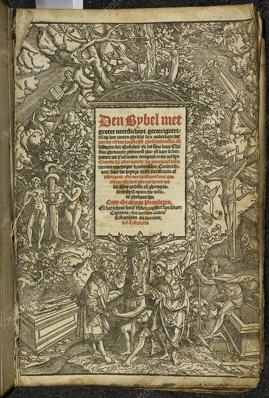Title page from a Dutch Bible