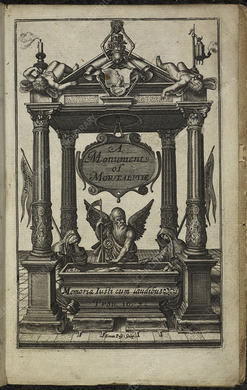 Title page of A Monument of Mortalitie