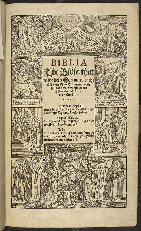 Title page of 'Coverdale's Bible'