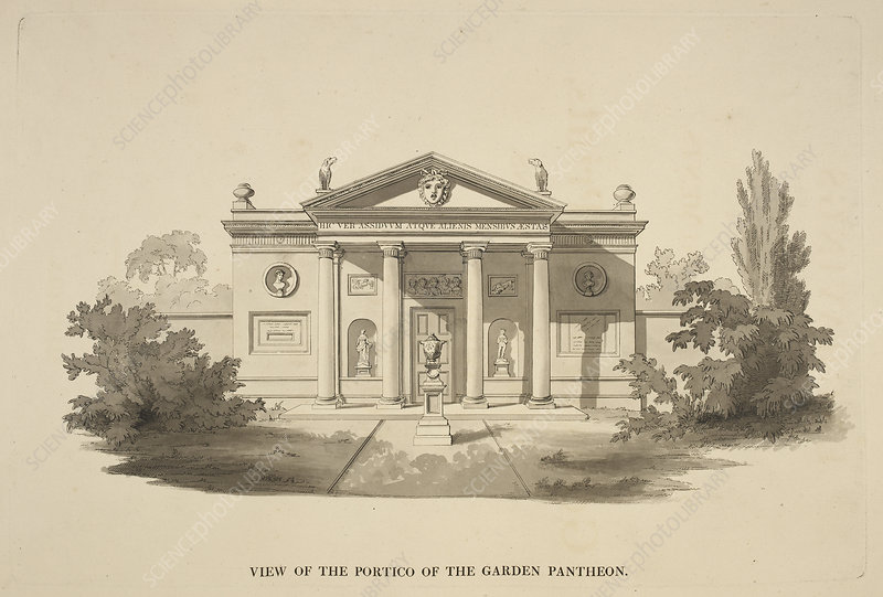Illustration of Classical-style buildings