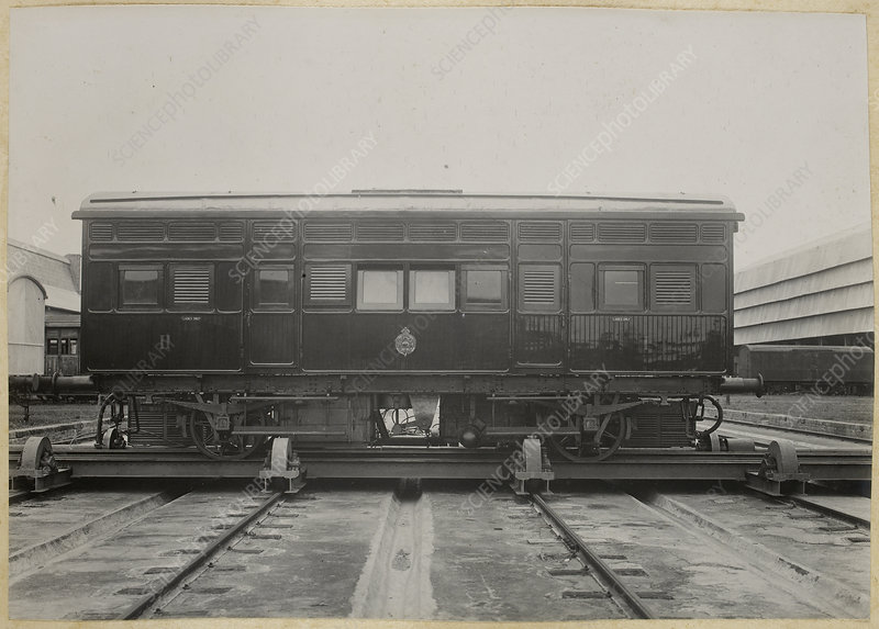 A photograph of a railway carriage