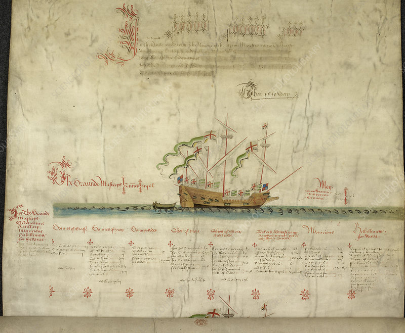 Ships in the king's navy fleet from 1546