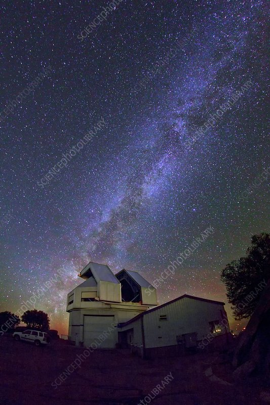 Milky Way over Kitt Peak Observatory, USA