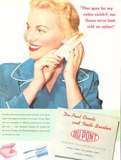 Nylon comb advert from DuPont, 1952