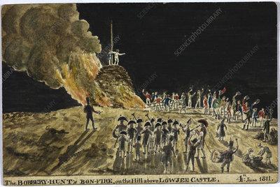 The Bobbery Hunt's bonfire