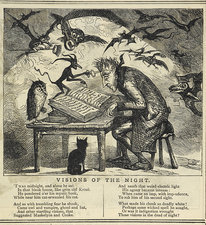Visions of the night, 19th-century cartoon