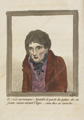 Young man with sunken cheeks, artwork