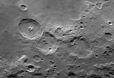 Theophilus trio of lunar craters