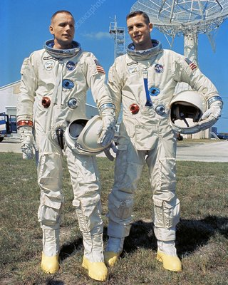 Neil Armstrong and David R. Scott in 1966