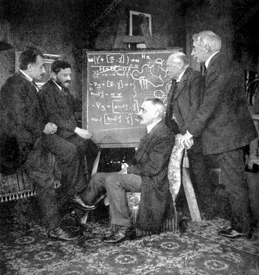 Einstein and other physicists in Leiden