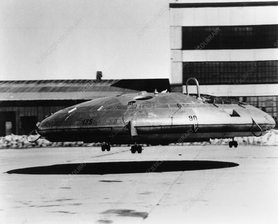 Avrocar saucer shaped aircraft