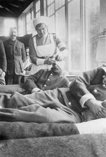 Military hospital, France, World War I