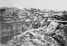 British trench, World War I