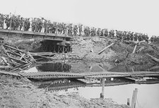British military bridge, Flanders, WWI