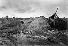 Destroyed village, World War I