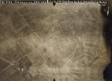 World War I trenches, aerial photograph