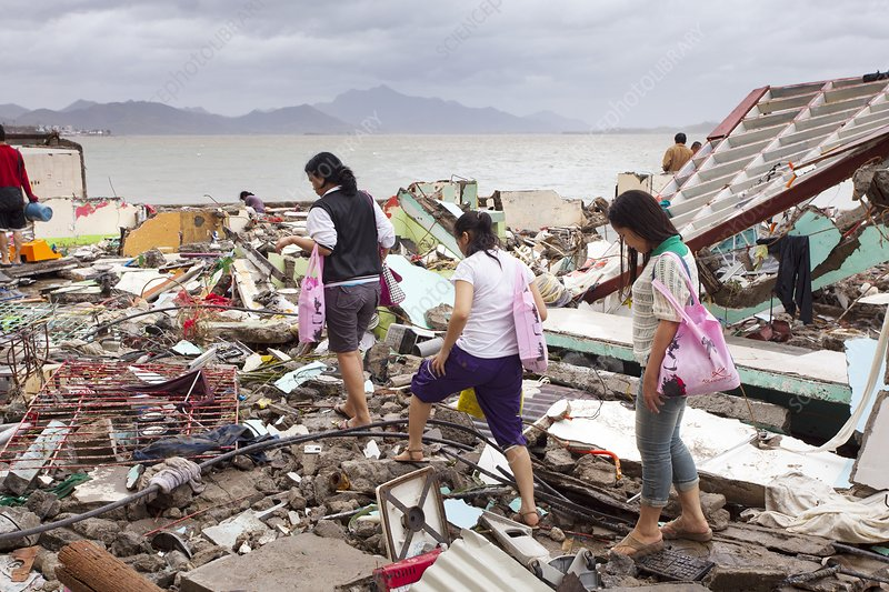 Destruction after super typhoon Haiyan