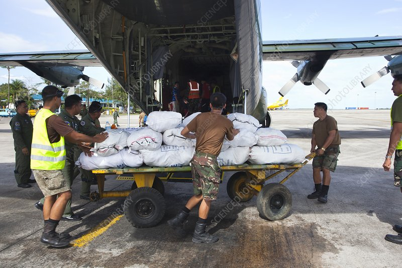 Aid for super typhoon Haiyan survivors