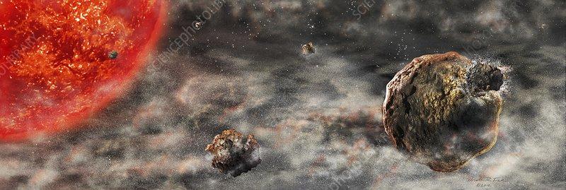 Early solar system, artwork
