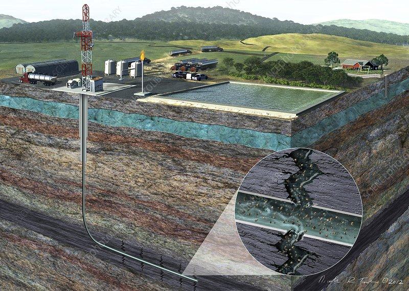 Fracking process, artwork