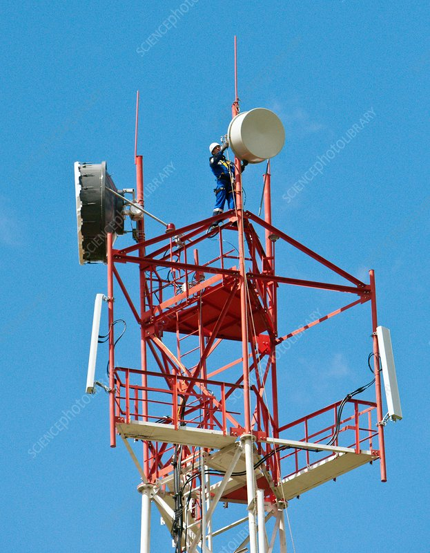 Mobile phone antenna installation
