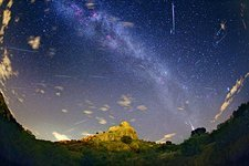Milky Way and Perseids meteor shower