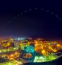 ISS trail over the Dali Museum