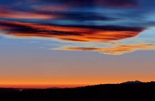 Mercury at sunset, composite sequence